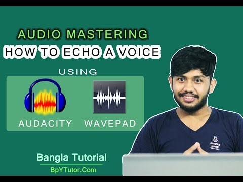 How To Apply Echo Effect To Your Record Voice using Audacity and Wavepad [কিভাবে অডিওতে একো দিবেন]