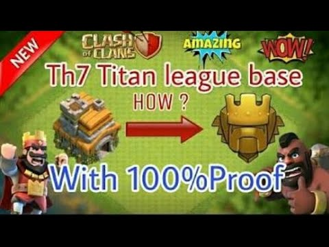 TH 7 BEST TROPHY BASE WITHOUT BARBARIAN KING AND HIDDEN TESLA.........