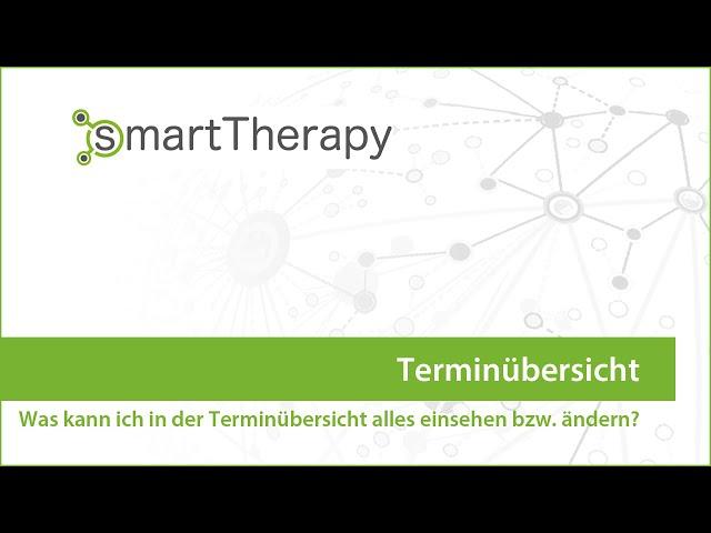 smartTherapy: Kalender Terminübersicht