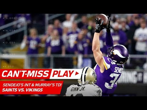 Sendejo Picks Off Brees to Set Up Murray's TD Blast! | Can't-Miss Play | NFL Divisional Round HLs