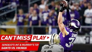 Sendejo Picks Off Brees to Set Up Murray
