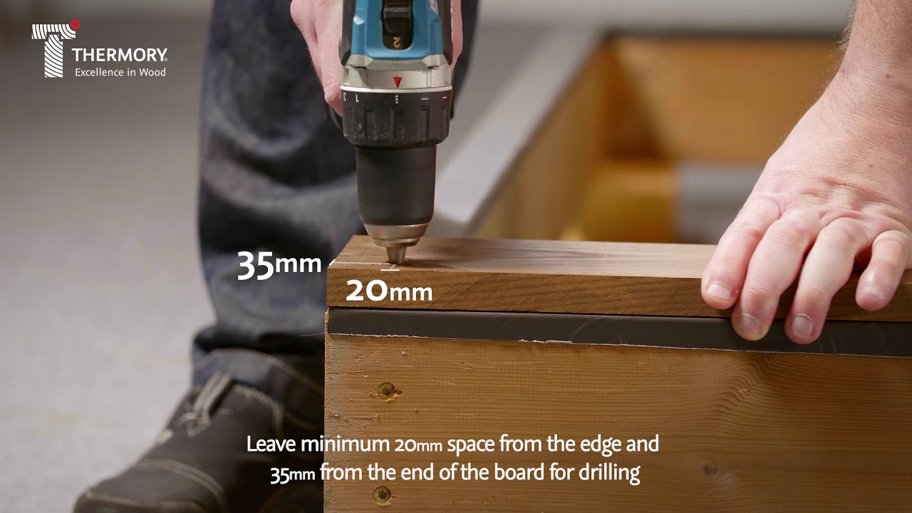 Thermory ash decking installation video - T-6 clip