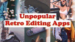 UNPOPULAR RETRO EDITING APPS // Vintage, Glitch, Aesthetic