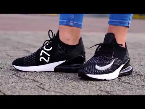 on sale d9e56 a3adb On Feet  Nike Air Max 270 Flyknit Black   99Kicks