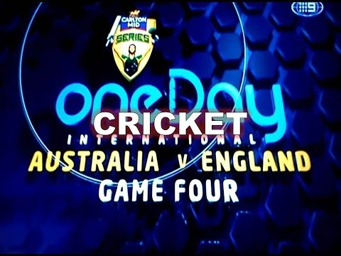 One Day International Australia Vs England Game Four (+ beer cup snake)