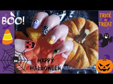 Diy 5 Cute Halloween Nail Art Tutorial Designs