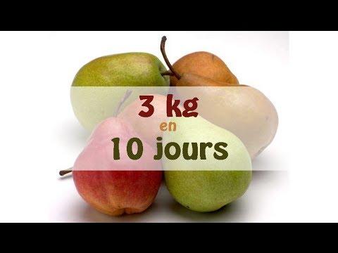 Régime pour perdre 3 kg en 10 jours !!! - YouTube