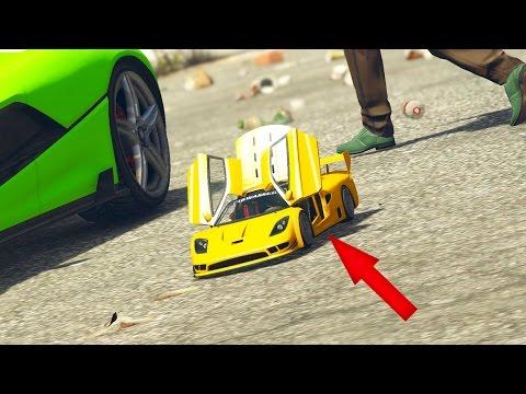 Funny gta 5 Radio control Mod!! Test de mini coches rc - Grand Theft Auto v Pc Mods (Modo Historia)