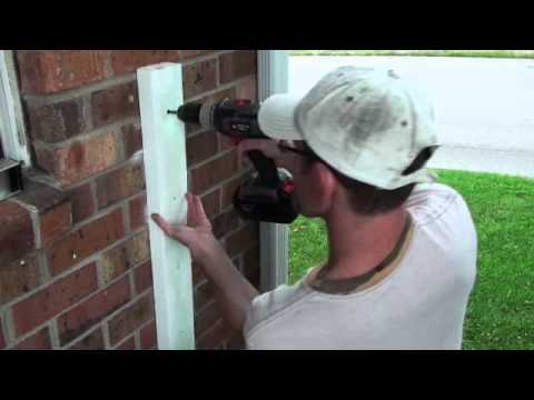 Railing Project Attaching 2x4 Onto Brick Wall Video 21