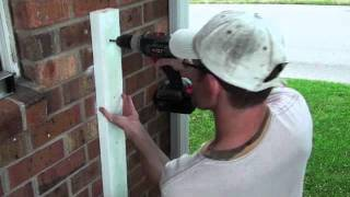 Railing Project - Attaching 2x4 Onto Brick Wall (Video 21 of 25)