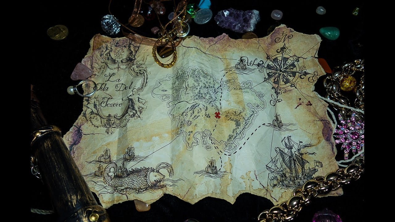 How To Make a Pirate Treasure Map DIY  1st Method