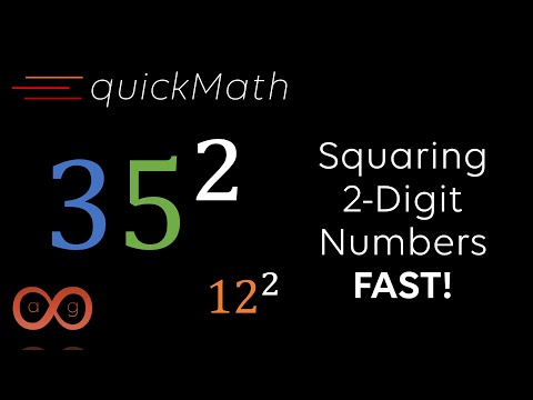 QuickMath | Squaring 2-Digit Numbers FAST! | Apeirophilic Guy