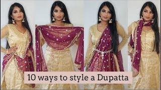 10 Ways to Style a Dupatta | Nivii06