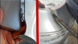 Ремонт бампера своими руками. Видео урок / Как запаять пластиковый бампер на Mercedes W211