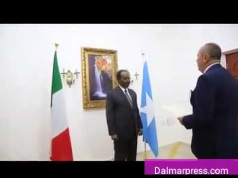 Somali President and Italy Ambassador to Somalia