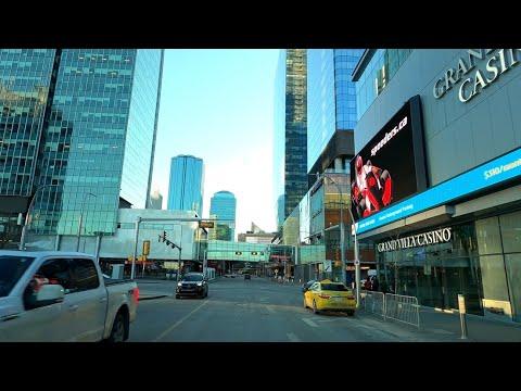 Edmonton, Driving in Downtown - Alberta, Canada