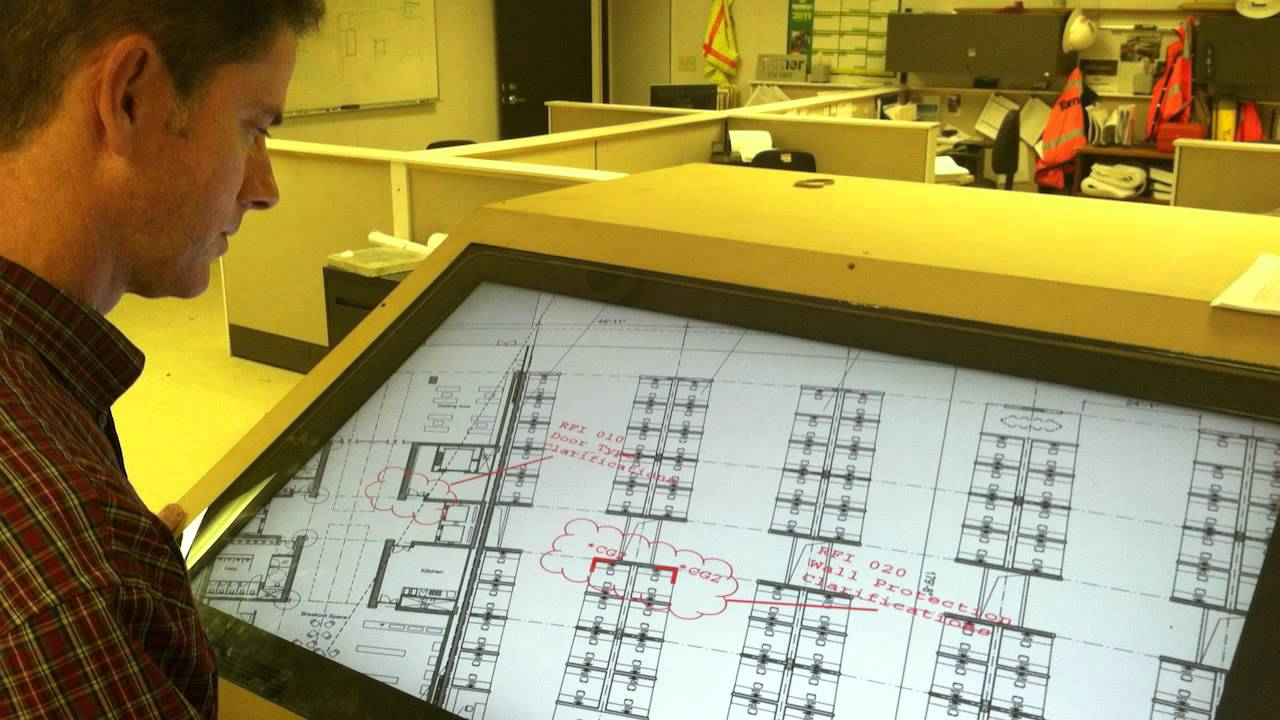 Turner construction e plan table youtube for Blueprint plan table