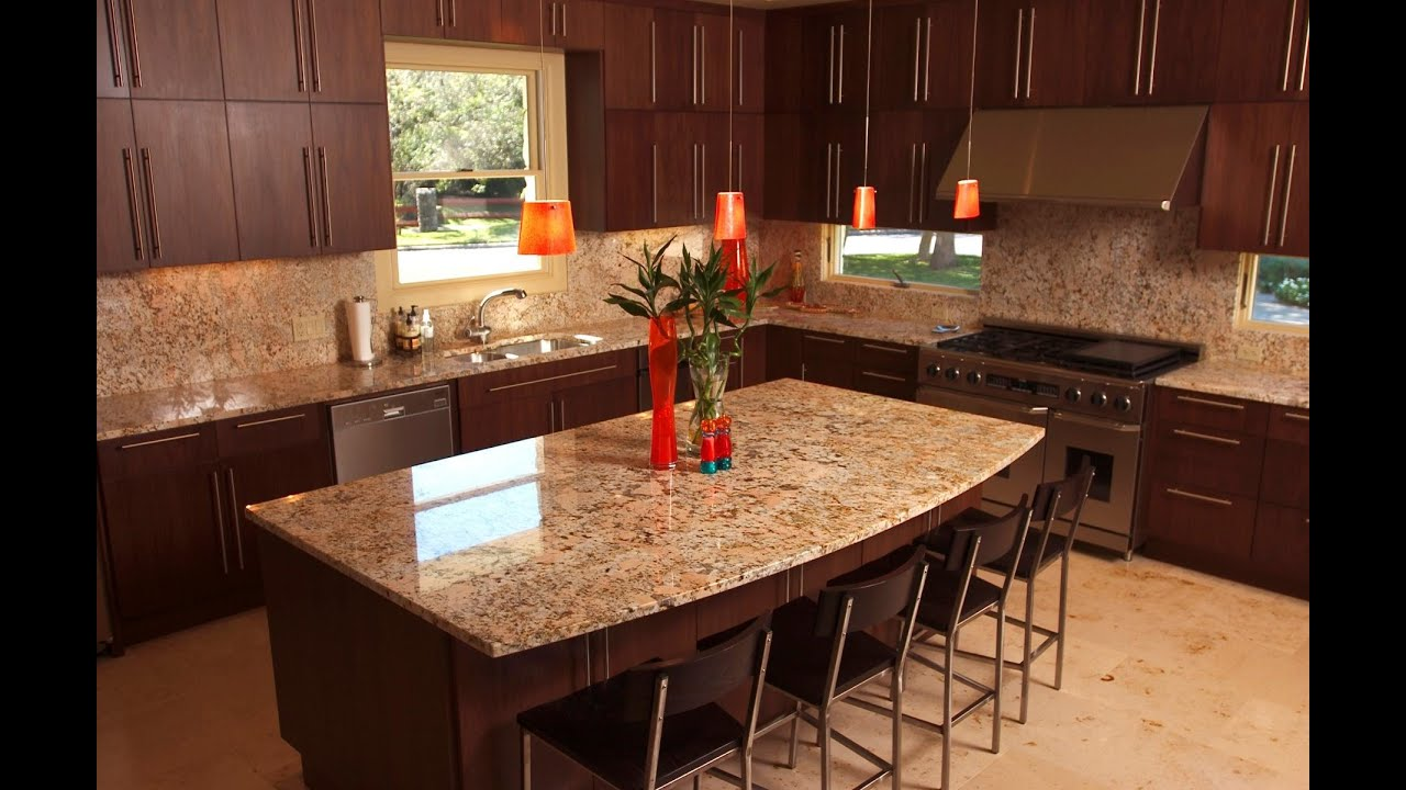 granite kitchens kitchen slice rugs backsplash ideas for countertops bar youtube