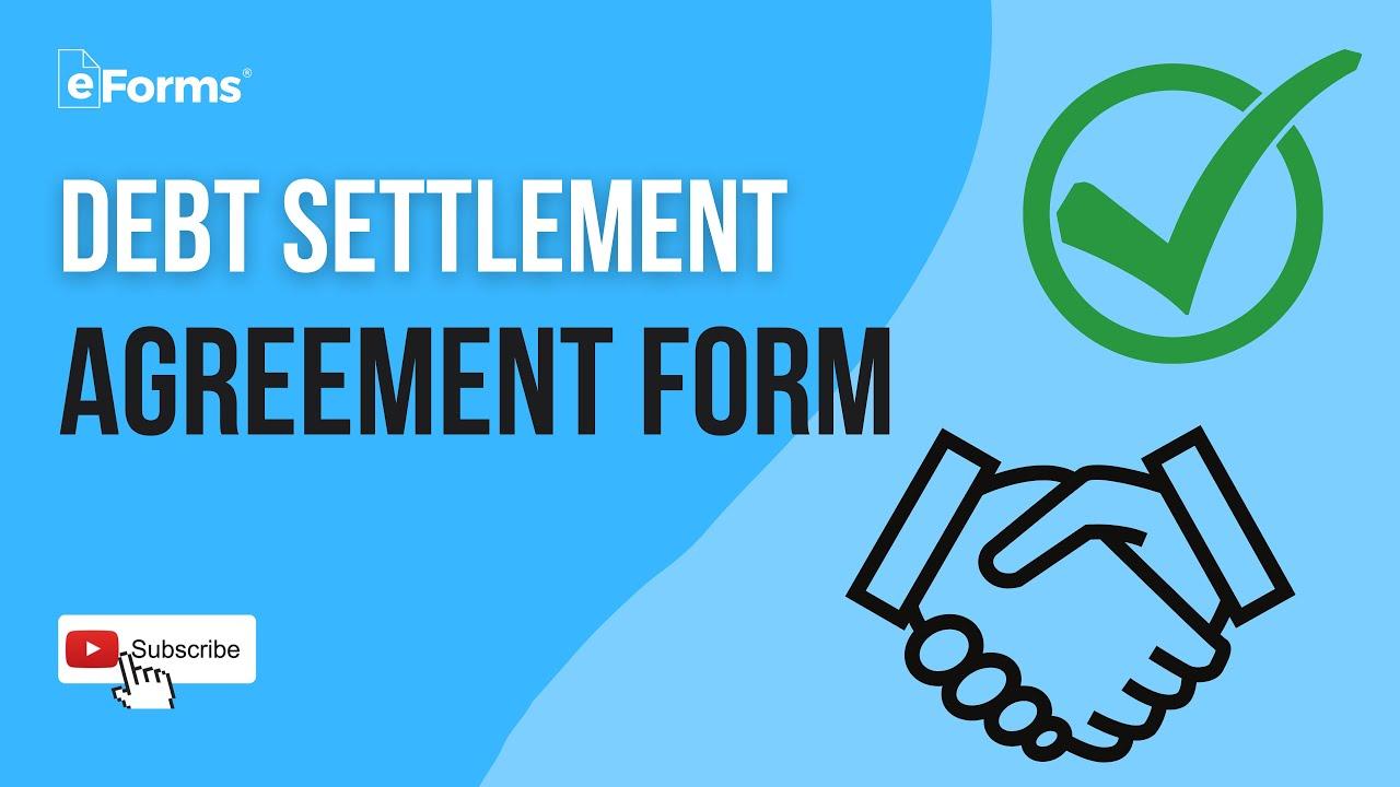 Free Debt Settlement Agreement Template Sample Word Pdf