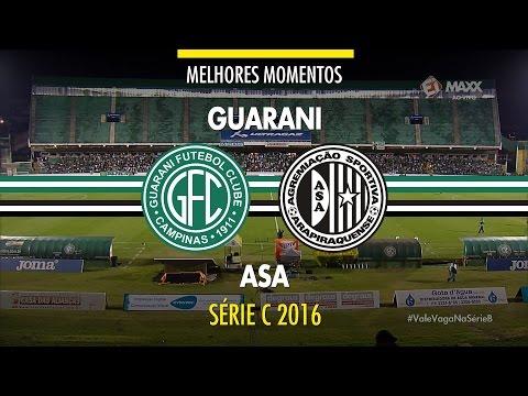 Melhores Momentos - Guarani 3 x 0 Asa-AL - Série C - 08/10/2016