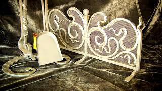 видео Кованые решетки для камина