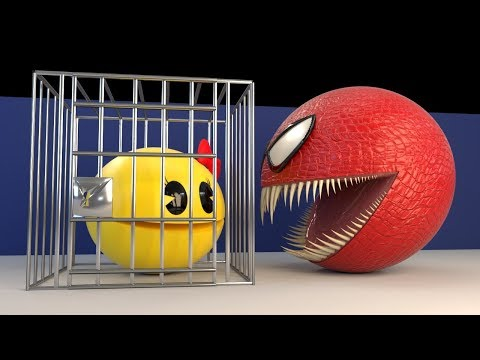 Red Monster Pacman Vs Ms. Pacman [The Abduction]