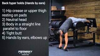 MONKEY METHOD Back hyper holds (Hands by ears)