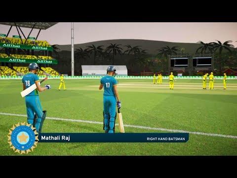 India vs Australia SEMIFINALS Women World Cup 2017 - Don Bradman Cricket 17