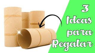 3 Ideas con Tubos de Cartón    Manualidades Recicladas    Ecobrisa