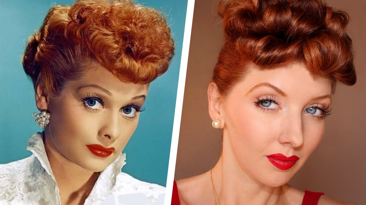 Transforming Into Lucille Ball Makeup Amp Hair Tutorial