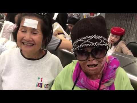 Phỏng vấn chị Tuyết Nga tại Bangkok Airport interview with Ms Tuyet Nga