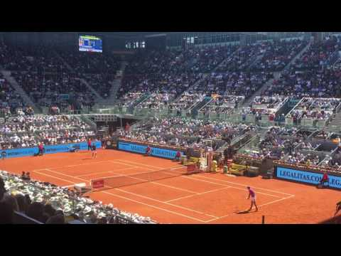 Madrid Open, Nadal vs. Djokovic, Nadal wins 1st set
