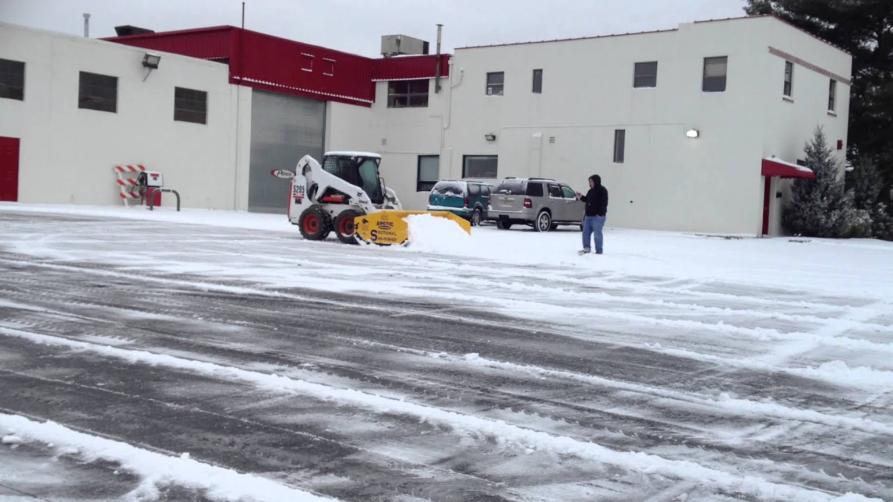 Our Arctic Sectional Snow Pusher In Action Youtube