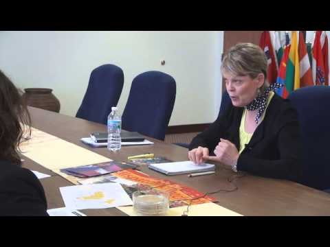 Gillian Slinger Visits Zonta International