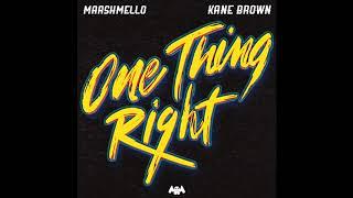 Gambar cover Marshmello & Kane Brown - One Thing Right (audio)