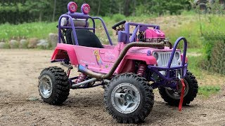 Building a 85 MPH Barbie Jeep In 10 Minutes Full Time Lapse