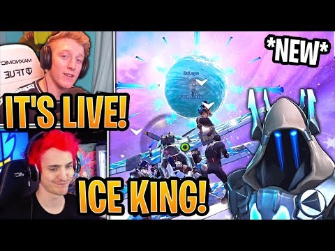 """Ninja & Streamers React to *NEW* """"FINAL BOSS"""" Count Down in the Sphere! (LIVE EVENT) - Fortnite"""