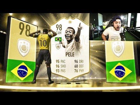 OMG I GOT 98 PELE!! 125K PACKS!! FIFA 19