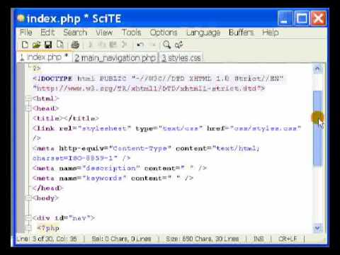 PHP - Includes and navigation - 1