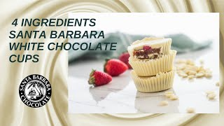 Vegan White Chocolate Peanut Butter Cups - ONLY 4 INGREDIENTS!