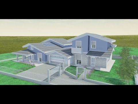 Progetto villa 2 piani rendering 3d edificius youtube for Rendering case moderne