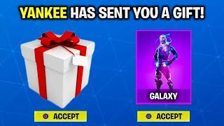 FINALLY THE GIFTING SYSTEM RELEASE DATE! - HOW TO GIFT SKINS in FORTNITE [FREE GALAXY SKIN FORTNITE]