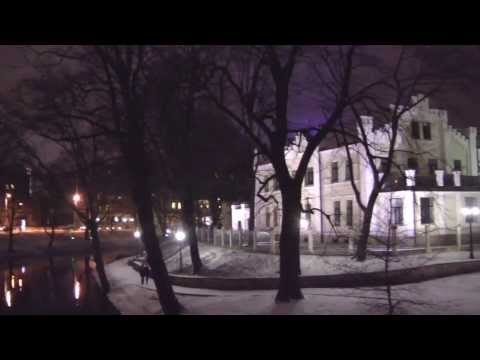 Views Around the City of Riga, Latvia, (at Night) January 20