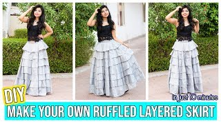 DIY: Make Your Own Ruffled Layer Skirt In Just 10 Minutes
