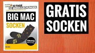 Gratis Big Mac Socken | Mcdonald's 32 Tage Oster Angebote Und Überraschungen