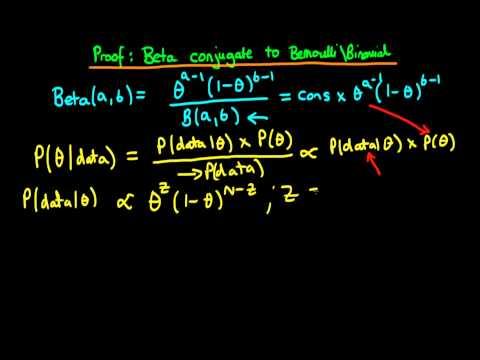 20 - Beta conjugate prior to Binomial and Bernoulli likelihoods