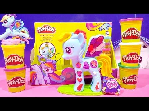Play Doh My Little Pony Rainbow Dash Style Salon Playset 2015 MLP PlayDough Salon Toy