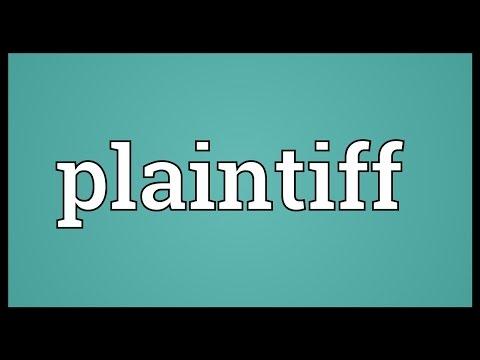 Plaintiff Meaning