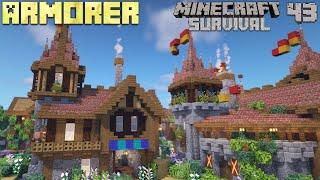 Armorer : How t๐ Build a Village - Let's Play Minecraft 1.16 Survival - Episode 43