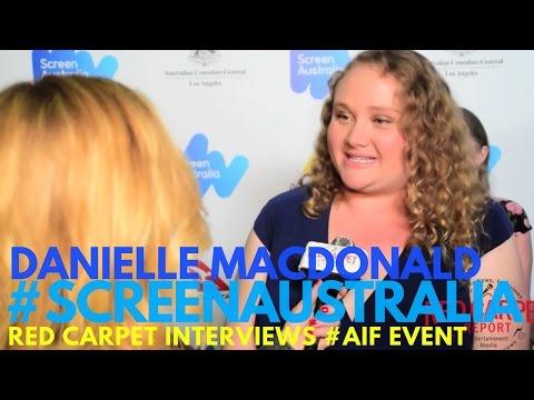 Danielle Macdonald interviewed at the 2017 Australian Oscar Nominees Reception #ScreenAustralia #AIF
